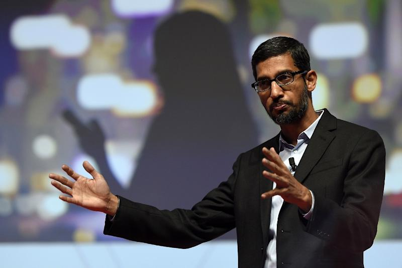 Pichai, named head of the Internet titan on Monday, was born to humble beginnings in the southern Indian city of Chennai (AFP Photo/Lluis Gene)