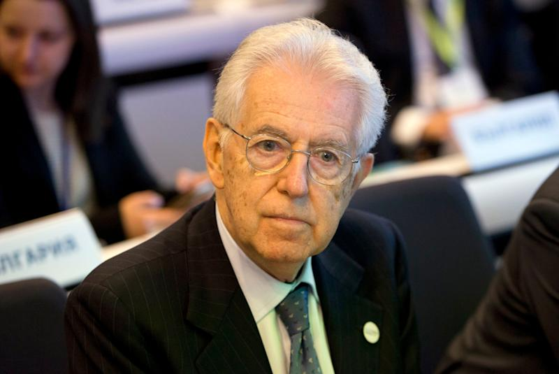Former Italian Prime Minister Mario Monti attends a conference 'Shaping Our Future' at the EU Charlemagne building in Brussels on Monday, Jan. 8, 2018. European Commission President Jean-Claude Juncker opened a debate Monday on the EU's next long-term budget, laying out the bloc's spending priorities over the seven years from 2021-2026. (AP Photo/Virginia Mayo) (Photo: ASSOCIATED PRESS)