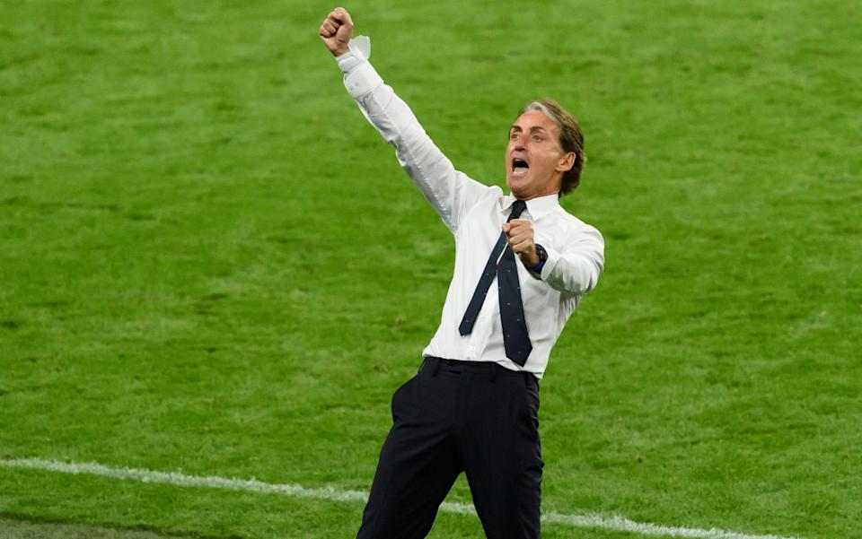 Mancini goes wild on the sidelines - GETTY IMAGES