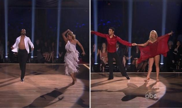 Jaleel White and Kym Johnson compete against Roshon Fegan and Chelsie Hightower in the 'Dancing with the Stars' 'dance-off' during Week 7, May 1, 2012 -- ABC