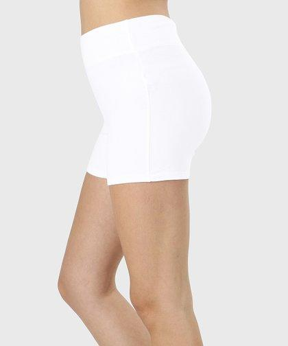 Zenana White Bike Shorts