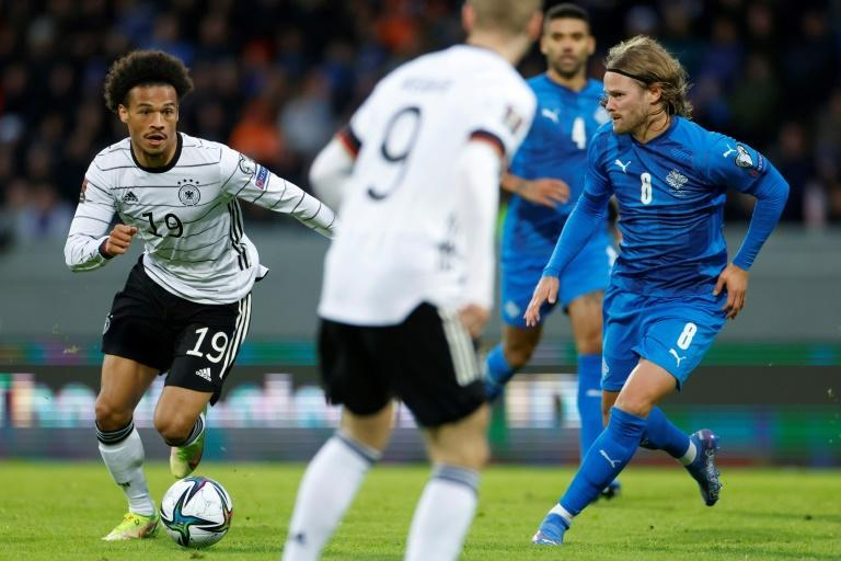 Leroy Sane (L) scored and created a goal in Germany's 4-0 win over Iceland on Wednesday (AFP/Odd ANDERSEN)