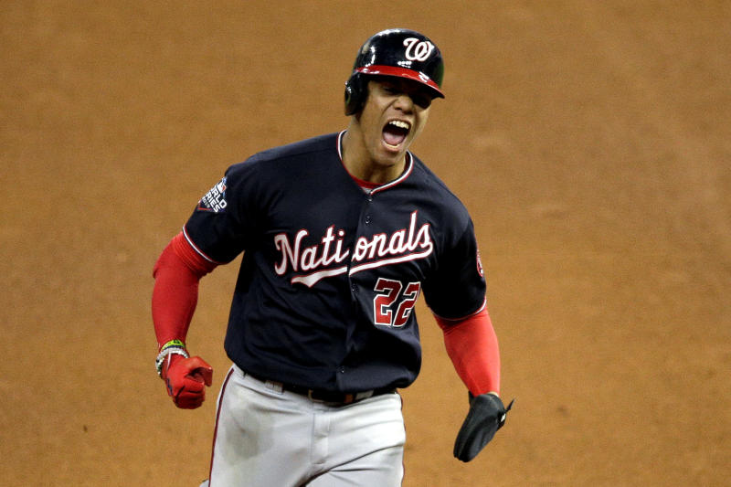 Juan Soto #22 of the Washington Nationals