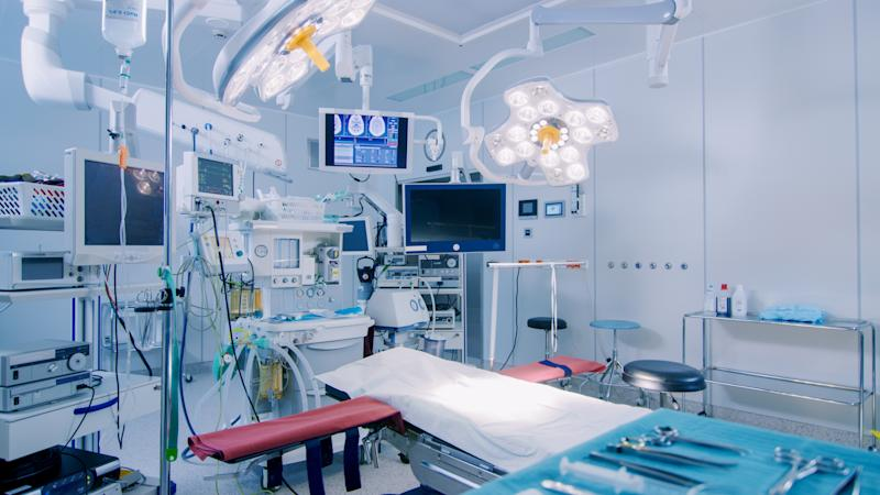 Medical devices in a hospital room.
