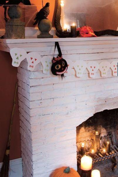 """<p>Hang this cute garland from your mantel or a wall for sparkly spooky vibes.</p><p><strong><em><a href=""""https://www.womansday.com/home/decorating/a28912657/skeleton-garland/"""" rel=""""nofollow noopener"""" target=""""_blank"""" data-ylk=""""slk:Get the Skeleton Garland tutorial"""" class=""""link rapid-noclick-resp"""">Get the Skeleton Garland tutorial</a>.</em></strong></p><p><a class=""""link rapid-noclick-resp"""" href=""""https://www.amazon.com/JIALU-1008pcs-Adhesive-Diameter-Sticky/dp/B07WTQLCC7?tag=syn-yahoo-20&ascsubtag=%5Bartid%7C10070.g.1908%5Bsrc%7Cyahoo-us"""" rel=""""nofollow noopener"""" target=""""_blank"""" data-ylk=""""slk:SHOP VELCRO STICKY BACK COINS"""">SHOP VELCRO STICKY BACK COINS</a></p>"""
