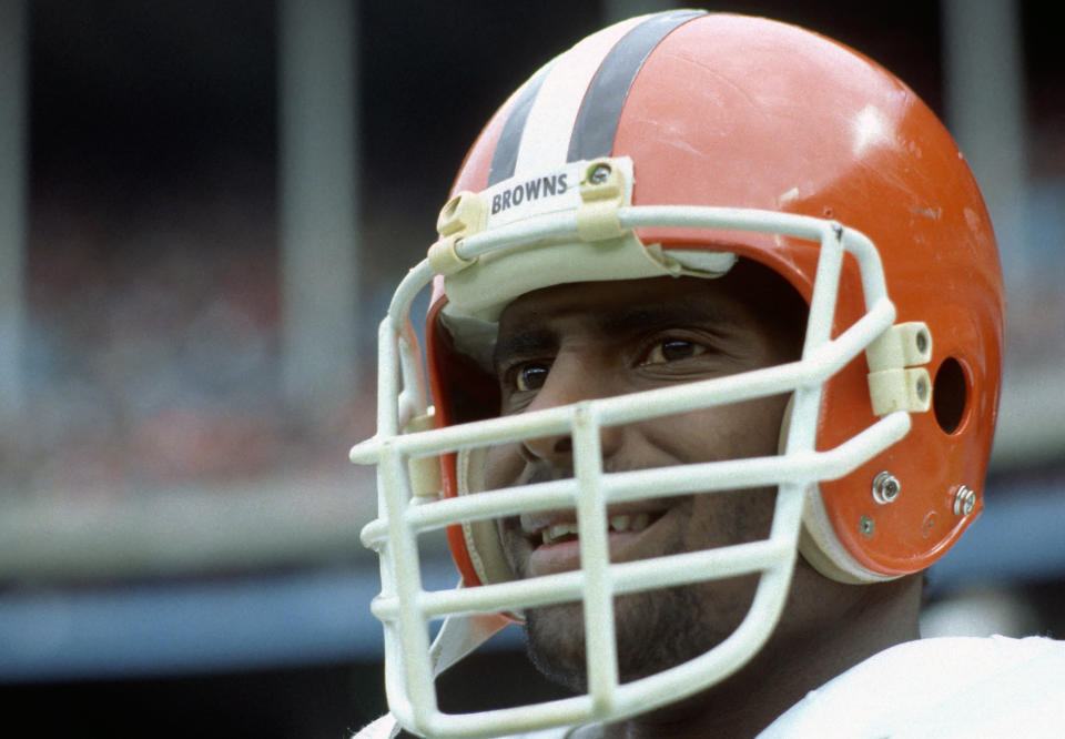 "Chip Banks was a four-time Pro Bowler and Rookie of the Year with the <a class=""link rapid-noclick-resp"" href=""/nfl/teams/cleveland/"" data-ylk=""slk:Cleveland Browns"">Cleveland Browns</a>. (George Gojkovich/Getty Images)"