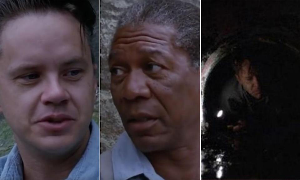"""<p>Early in the film, Red calls Andy Dufresne's dream of living in Zihuatanejo when he leaves prison: """"a s***ty pipe dream"""". How does Tim Robbin's character escape the prison to live his dream? Through a sewage pipe – literally """"a s***ty pipe"""". </p>"""