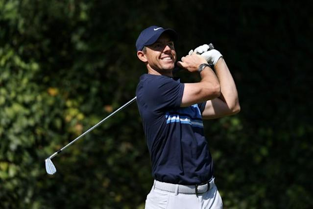 Slam bid: Rory McIlroy heads to Mexico with chance to equal Dustin Johnson as the only player to win all four WGC events (AFP Photo/CHRIS TROTMAN)