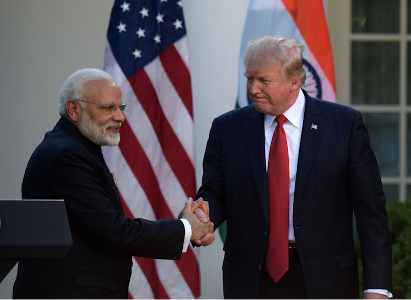 Prime Minister Narendra Modi with US President Donald Trump in June 2017 at the White House in Washington D.C. (Photo: Xinhua News Agency via Getty Images)
