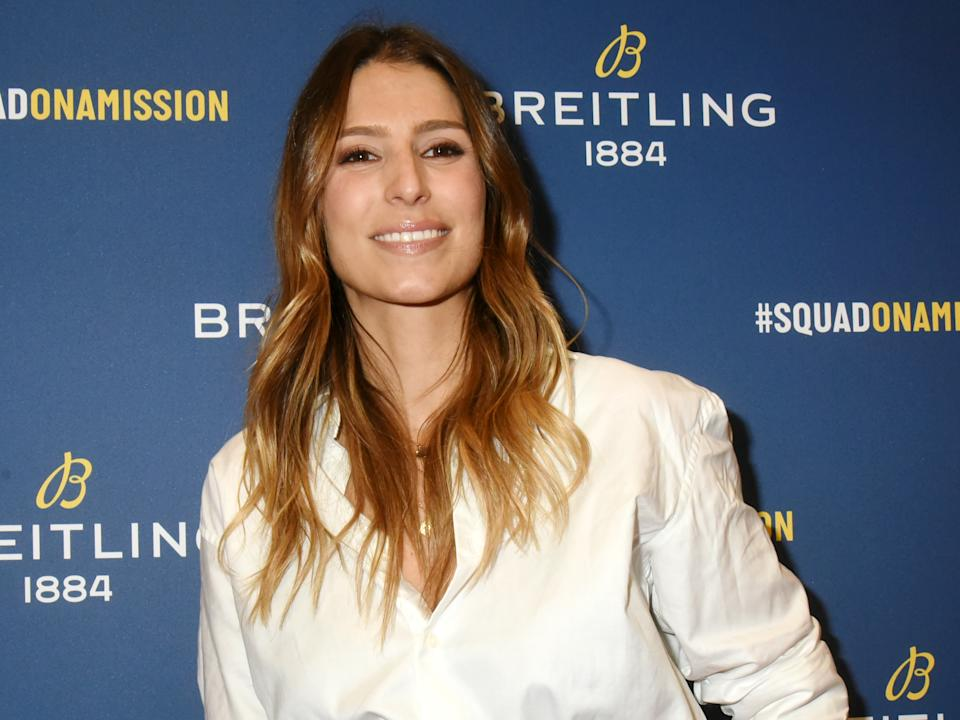 """PARIS, FRANCE - OCTOBER 03: Miss France 2011 Laury Thilleman  attends the """"Breitling 1884"""" flagship reopening party at 10 rue de la Paix on October 03, 2019 in Paris, France. (Photo by Foc Kan/WireImage)"""