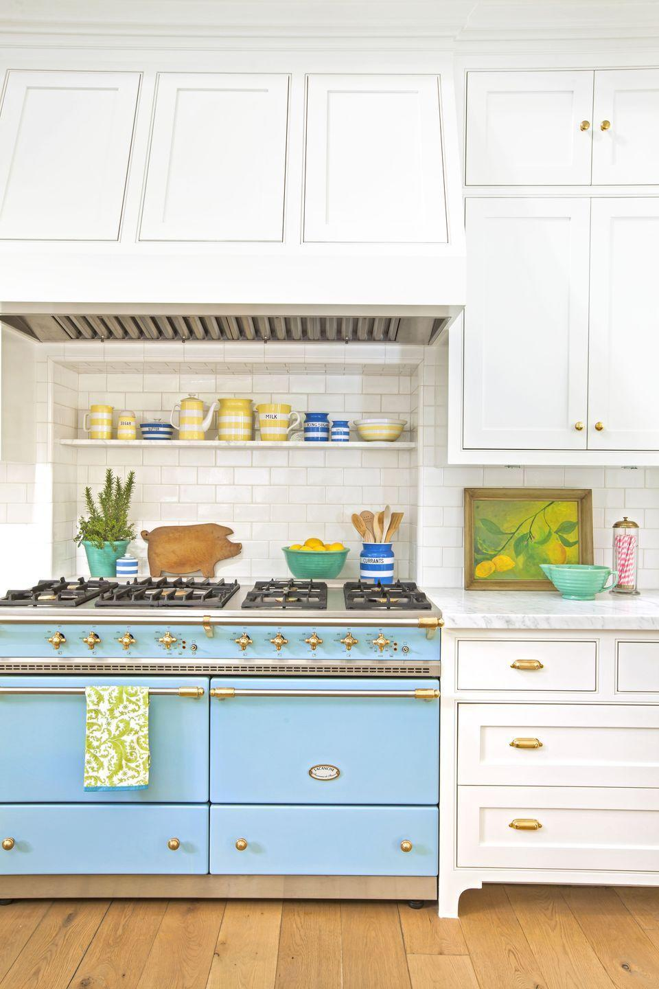 "<p>Appliance makers like Lacanche, Big Chill, and Smeg offer up a host of practical pieces in a number of colors and finishes, which will definitely liven up your range. </p><p><a class=""link rapid-noclick-resp"" href=""https://go.redirectingat.com?id=74968X1596630&url=https%3A%2F%2Fwww.wayfair.com%2Fbrand%2Fbnd%2Fsmeg-b41352.html&sref=https%3A%2F%2Fwww.countryliving.com%2Fhome-design%2Fdecorating-ideas%2Fg3988%2Fkitchen-trends%2F"" rel=""nofollow noopener"" target=""_blank"" data-ylk=""slk:SHOP SMEG APPLIANCES"">SHOP SMEG APPLIANCES</a></p>"