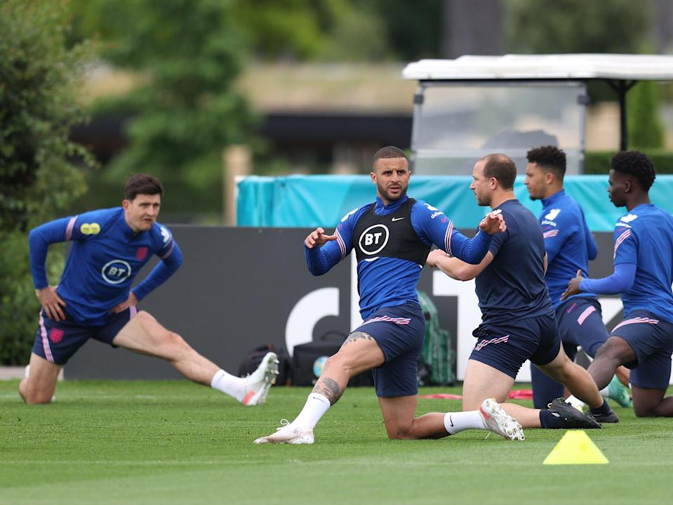 England's players training at Spurs Lodge (Getty Images)
