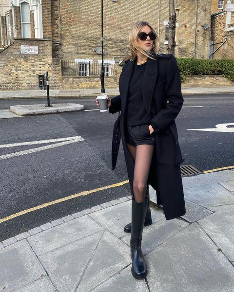 """<p>Don't let cold weather stop you from rocking short shorts, just pair them with tights in a low denier like Camille Charriere. </p><p><a class=""""link rapid-noclick-resp"""" href=""""https://go.redirectingat.com?id=127X1599956&url=https%3A%2F%2Fwww.heist-studios.com%2Ftights%2Fthe-thirty%2F&sref=https%3A%2F%2Fwww.elle.com%2Fuk%2Ffashion%2Fg36129428%2Fspring-outfits%2F"""" rel=""""nofollow noopener"""" target=""""_blank"""" data-ylk=""""slk:SHOP TIGHTS NOW"""">SHOP TIGHTS NOW</a></p><p><a href=""""https://www.instagram.com/p/CNZ8EwZjZ60/"""" rel=""""nofollow noopener"""" target=""""_blank"""" data-ylk=""""slk:See the original post on Instagram"""" class=""""link rapid-noclick-resp"""">See the original post on Instagram</a></p>"""