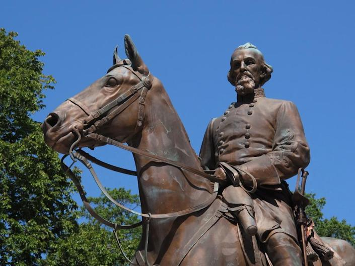Sons of Confederate Veterans last year rededicated removed statues of Ku Klux Klan founder Nathan Bedford at its National Confederate Museum in Columbia, Tennessee.