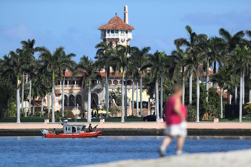 Mar-a-Lago still allows members to come and go whilst the President is 'working' over the weekend (Getty)