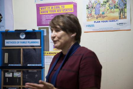 Netherlands Minister for Trade and Development Cooperation Lilianne Ploumen visits a Family Health Options clinic in the Kibera slums in Nairobi, Kenya, May 16, 2017. REUTERS/Baz Ratner