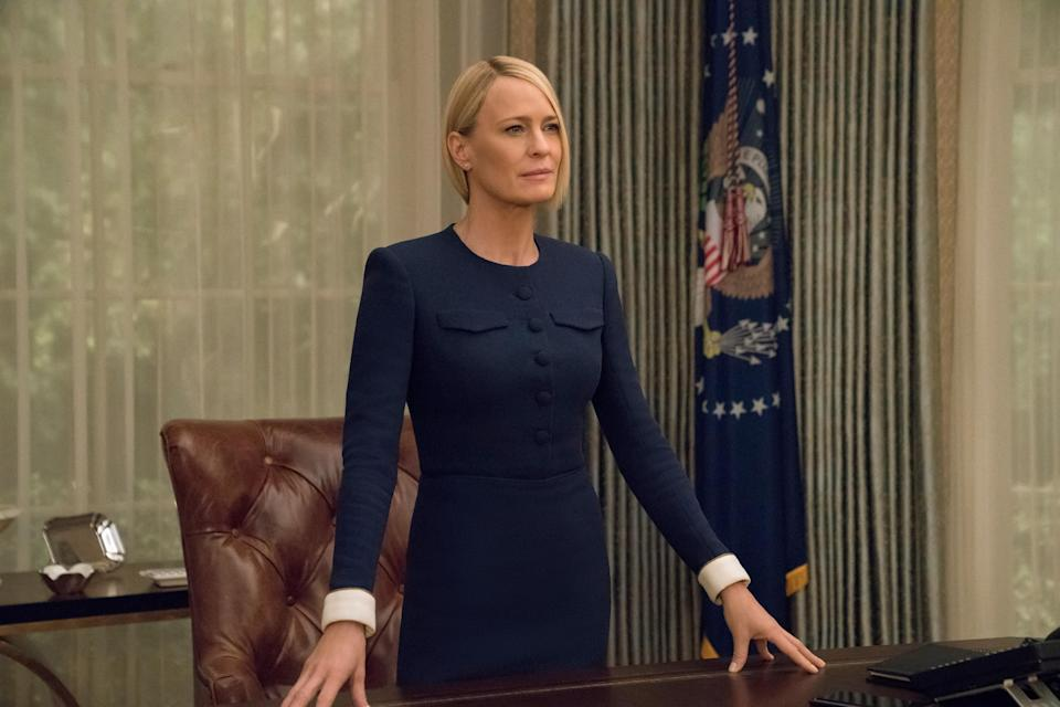 Robin Wright in the sixth and final season of <em>House of Cards</em> (Photo: David Giesbrecht/Netflix/Courtesy Everett Collection)