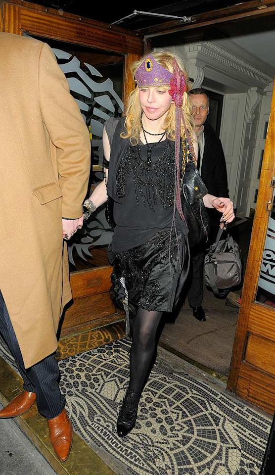 "Is that Courtney Love, or Captain Jack Sparrow? <a href=""http://www.splashnewsonline.com"" target=""new"">Splash News</a> - February 1, 2009"
