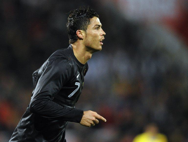 Portugal forward Cristiano Ronaldo pictured after scoring during a friendly against Ecuador on February 6, 2013