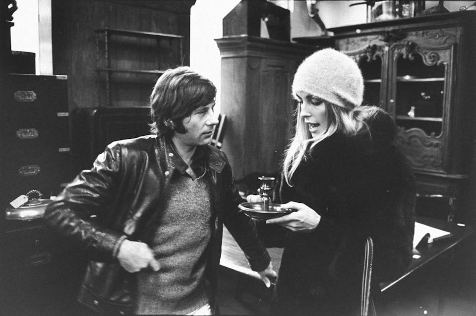 <p>Despite their blossoming Hollywood careers, Tate and Polanski managed to lead a semi-normal life. Here, the couple is seen shopping for antiques on King's Road in London. </p>