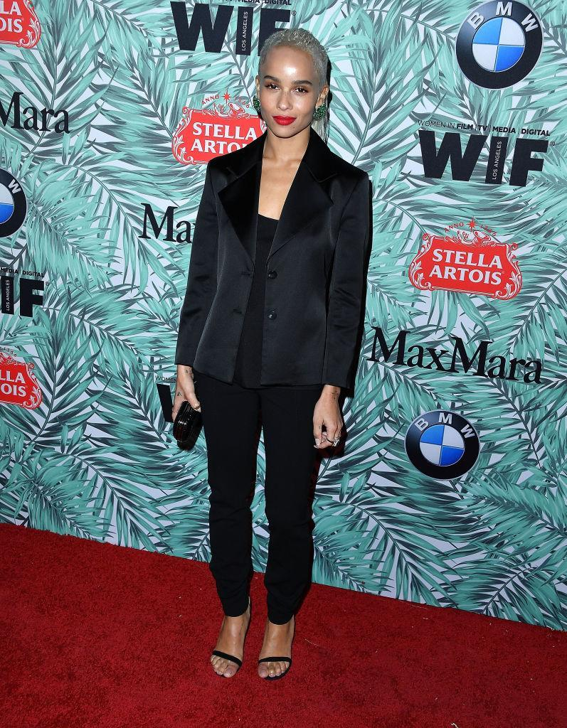 <p>Zoe Kravitz in an on-trend suit (Photo: Getty Images) </p>