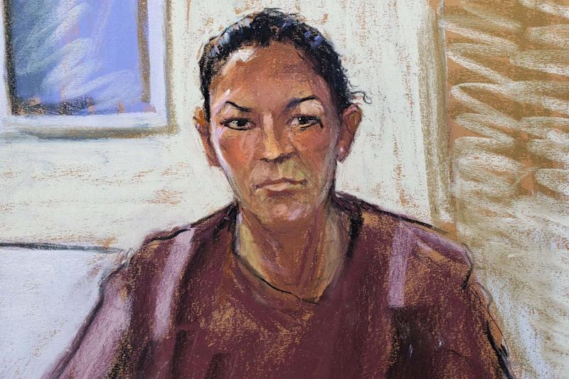 A court sketch of Ghislaine Maxwell who is being held in pre-trial detention (REUTERS)
