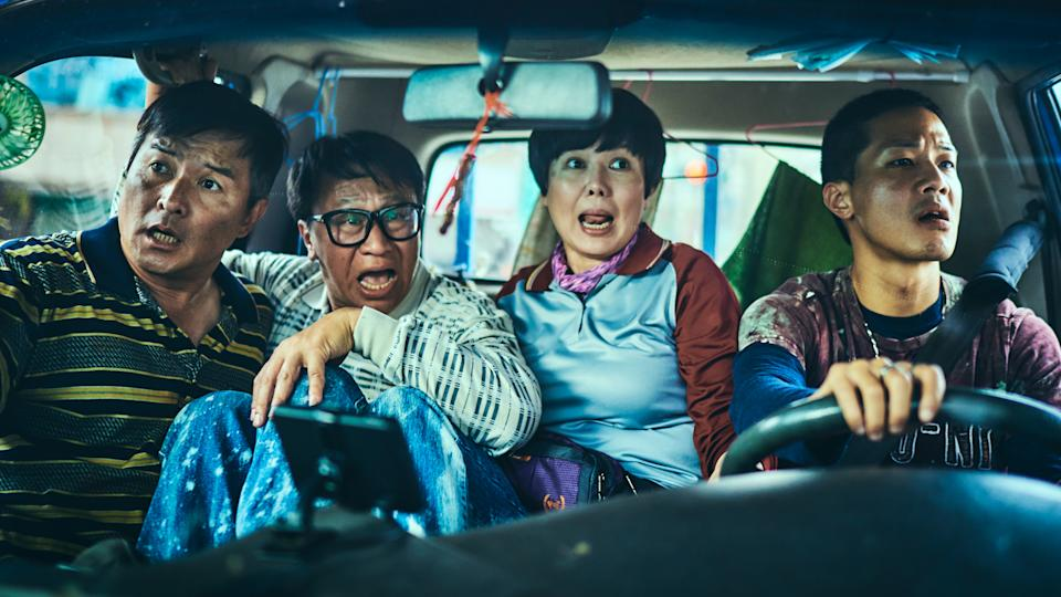 (From left to right) Christopher Lee, Yu An-Shun, Miao Ke-Li, and Hsueh Shih-Lingstar in HBO Asia's Taiwanese comedy-drama series, Workers. (Photo: HBO)