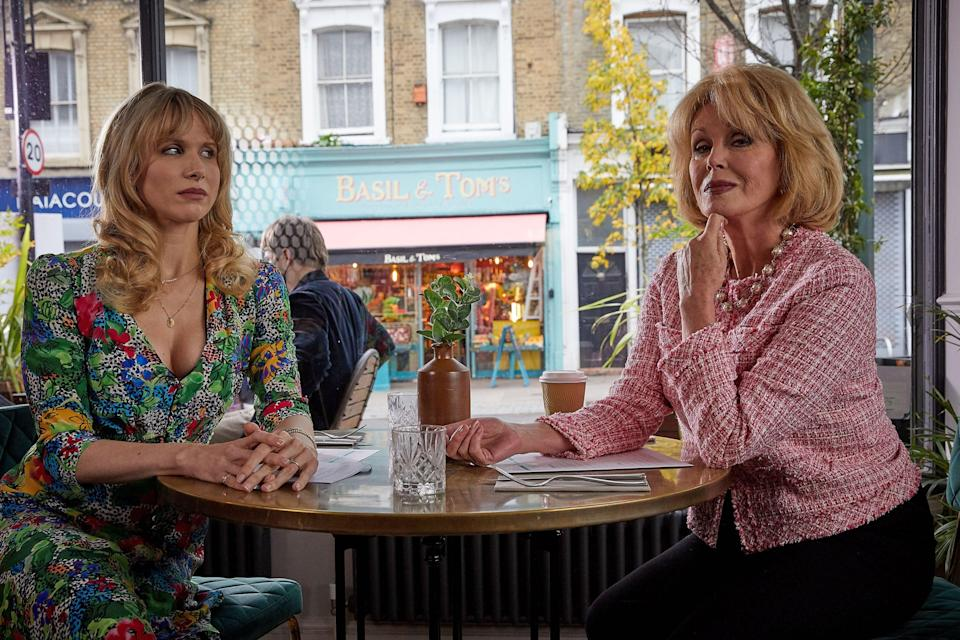 <p>Joanna Lumley makes a cameo in Motherland</p> (BBC)