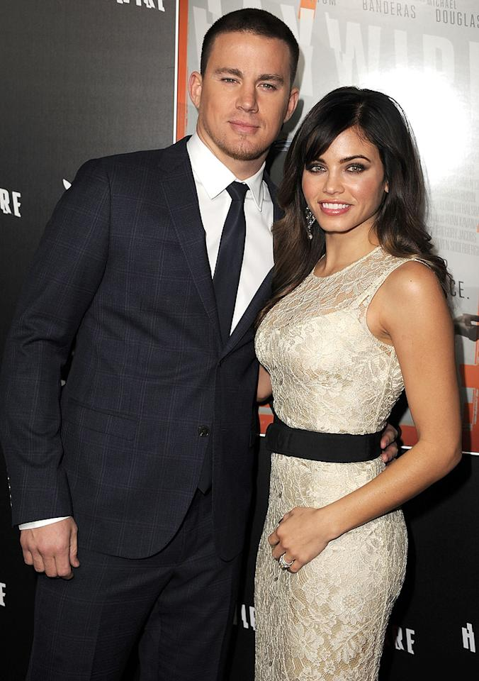 "<a href=""http://movies.yahoo.com/movie/contributor/1808597021"">Channing Tatum</a> and <a href=""http://movies.yahoo.com/movie/contributor/1809103126"">Jenna Dewan</a> at the Los Angeles premiere of <a href=""http://movies.yahoo.com/movie/1810215399/info"">Haywire</a> on January 6, 2012."