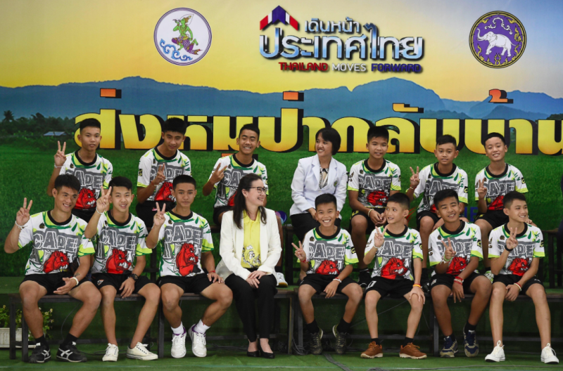 Thai cave boys leave hospital and give first TV interview since being rescued