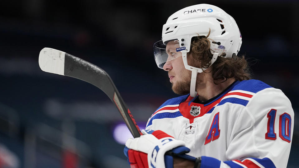 Artemi Panarin is stepping away from the Rangers following concerning reports out of Russia. (Photo by Patrick McDermott/NHLI via Getty Images)