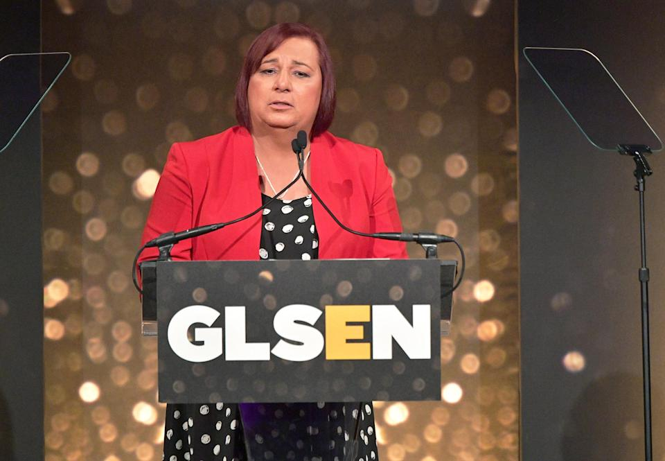Image: Stephanie Byers, GLSEN 2018 Respect Awards - New York  - Inside (Dia Dipasupil / Getty Images for GLSEN file)