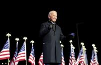 FILE PHOTO: Democratic U.S. presidential nominee and former Vice President Joe Biden holds a drive-in campaign rally at Heinz Field in Pittsburgh
