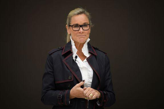 Angela Ahrendts is the the senior vice president of retail and online stores at Apple. She's all about making the stores a hangout spot.
