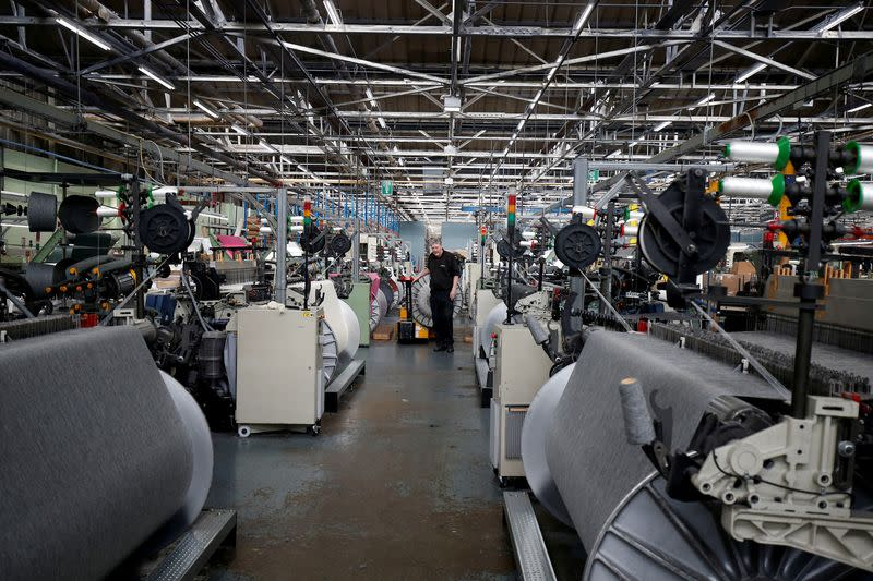 FILE PHOTO: A general view of the factory floor at Camira Fabrics in Huddersfield