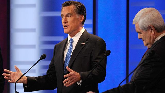 Newt Gingrich Stumbles, and Mitt Romney Sighs Relief