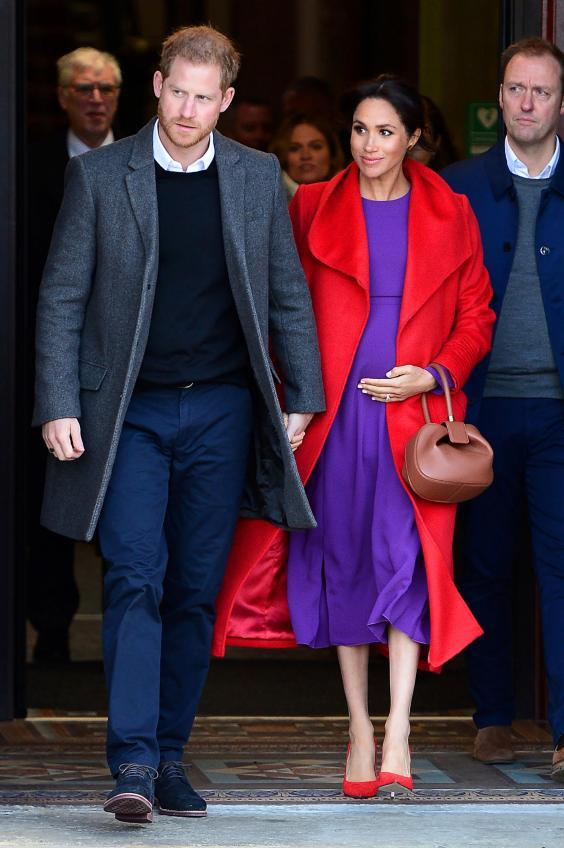 The couple announced they were expecting their first in October 2018 (Getty Images)