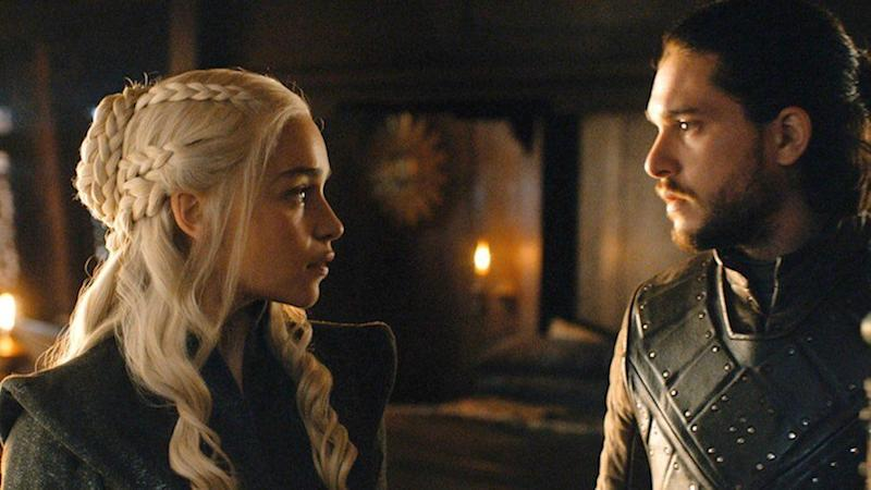 Dany and Jon in Game of Thrones season 8 episode 2