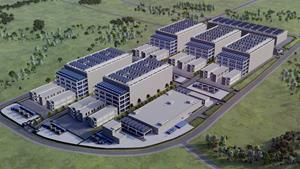 Artists impression of AirTrunk's planned Tokyo data centre TOK1
