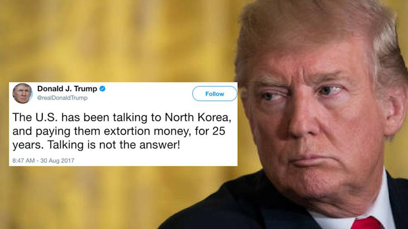 Trump On North Korea: 'Talking Is Not The Answer'