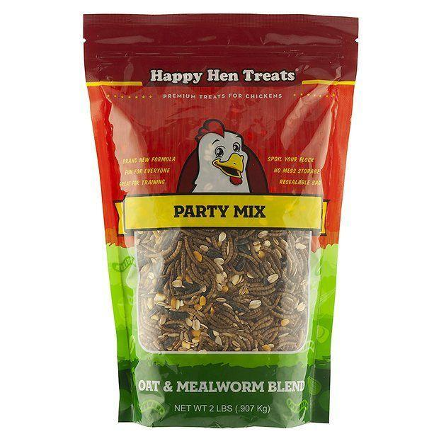 "<p><strong>Happy Hen Treats</strong></p><p>chewy.com</p><p><strong>$6.59</strong></p><p><a href=""https://go.redirectingat.com?id=74968X1596630&url=https%3A%2F%2Fwww.chewy.com%2Fhappy-hen-treats-oat-mealworm-party%2Fdp%2F122443&sref=https%3A%2F%2Fwww.countryliving.com%2Flife%2Fg32111109%2Fgifts-for-chicken-lovers%2F"" rel=""nofollow noopener"" target=""_blank"" data-ylk=""slk:Shop Now"" class=""link rapid-noclick-resp"">Shop Now</a></p><p>Your favorite chicken lady will become queen of the coop when she treats her chickens to this tasty snack. Her chickens will love the wholesome combination of high protein mealworms, tasty oat groats, sunflower kernels and raisins.</p>"
