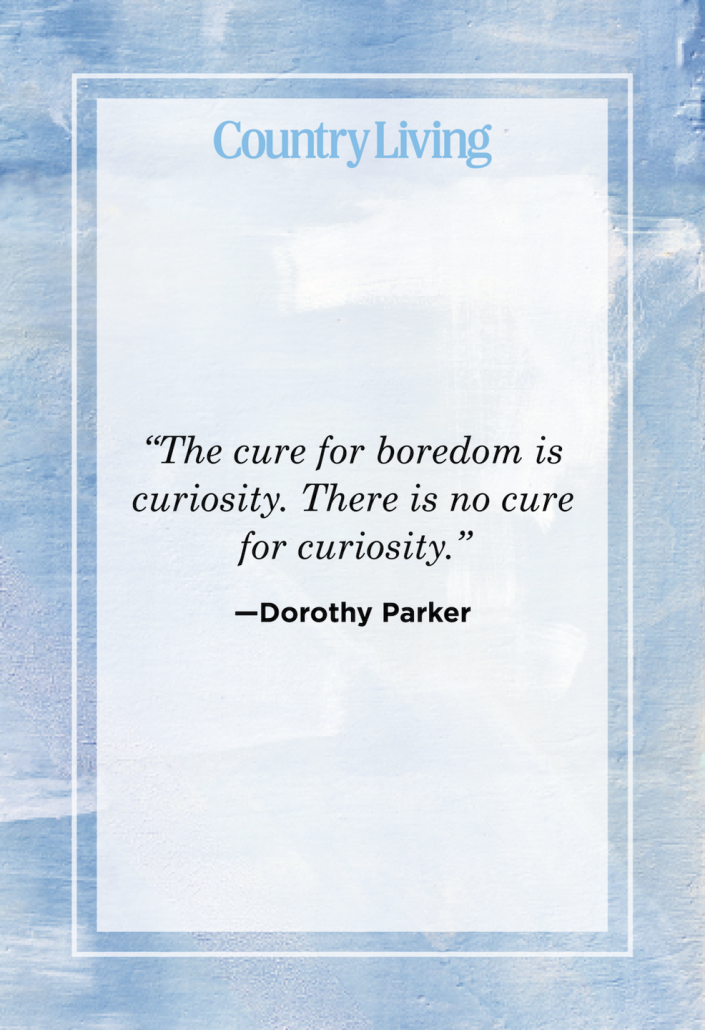 """<p>""""The cure for boredom is curiosity. There is no cure for curiosity.""""</p>"""