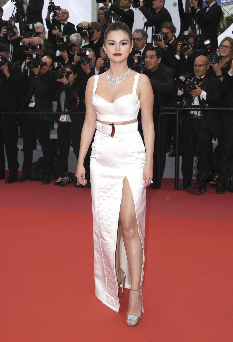 Actress Selena Gomez poses for photographers upon arrival at the opening ceremony and the premiere of the film 'The Dead Don't Die' at the 72nd international film festival, Cannes, southern France, Tuesday, May 14, 2019. (Photo by Arthur Mola/Invision/AP)