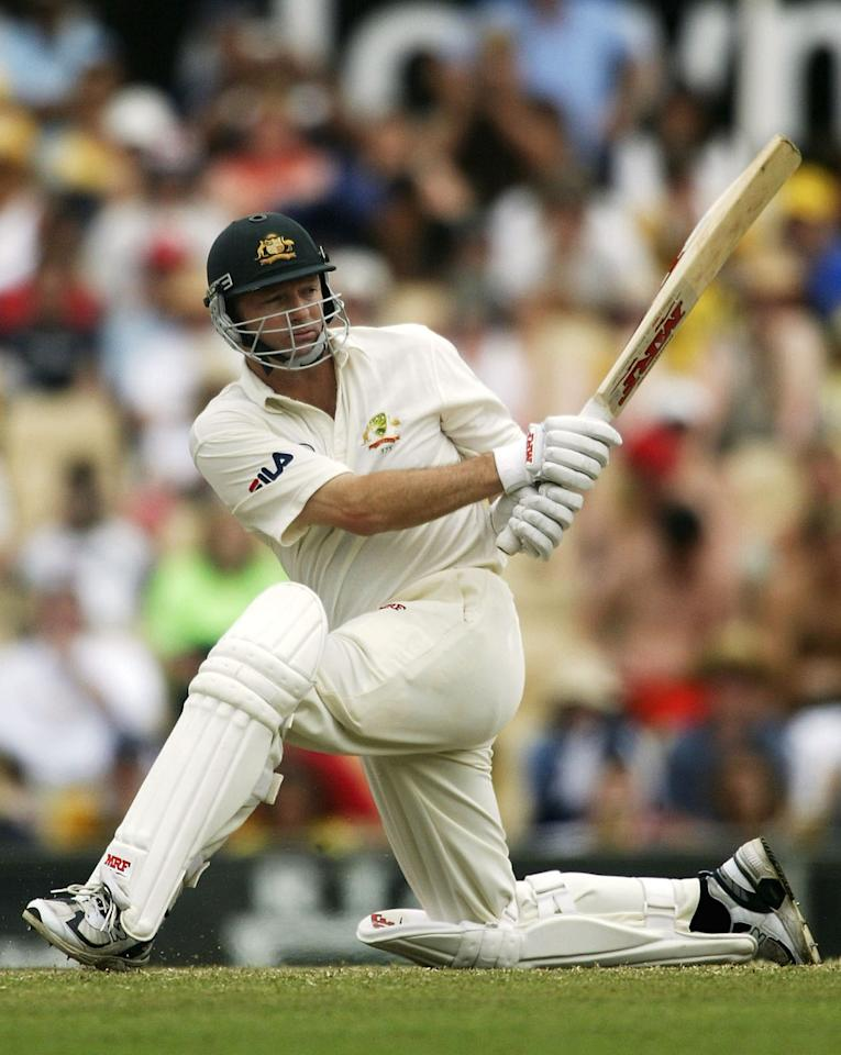 SYDNEY, AUSTRALIA - JANUARY 6:  Retiring Australian Test Captain Steve Waugh in action during day five of the 4th Test between Australia and India at the SCG on January 6, 2004 in Sydney, Australia. (Photo by Hamish Blair/Getty Images)