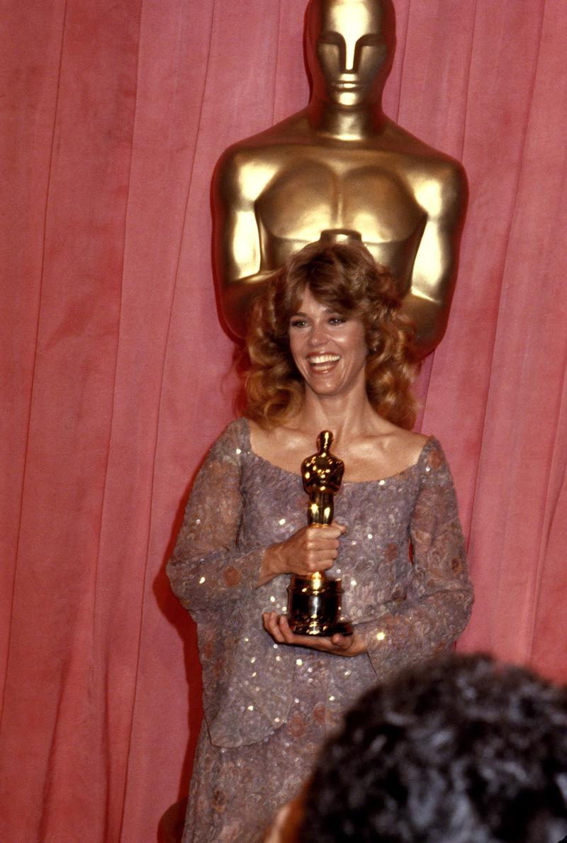 """Fonda at the 51st Academy Awards in Los Angeles, collecting a best actress Oscar for """"Coming Home."""""""