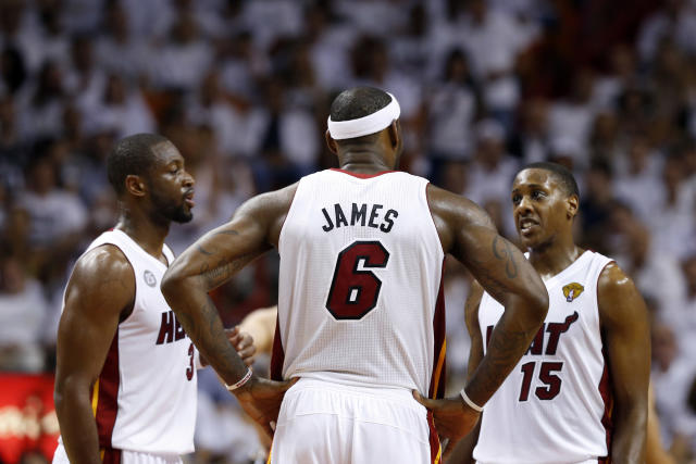 Mario Chalmers (15) provided a lift in the third quarter of Miami's big victory Sunday. (USA Today Sports)