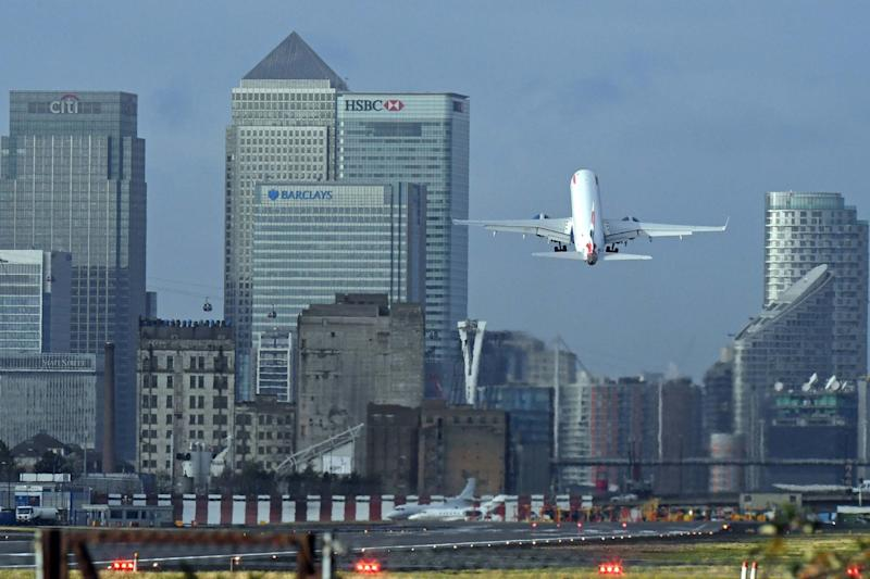 File photo dated 22/11/16 of a plane taking off at London City Airport: PA