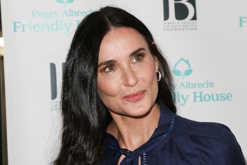 BEVERLY HILLS, CALIFORNIA - OCTOBER 26: Demi Moore attends the 'Friendly House' 30th annual awards luncheon at The Beverly Hilton Hotel on October 26, 2019 in Beverly Hills, California. (Photo by Paul Archuleta/FilmMagic)