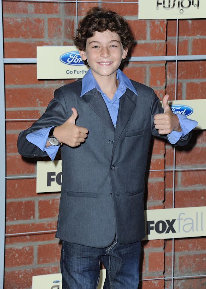 "David Mazouz (""Touch"") attends Fox's Fall 2012 Eco-Casino party at The Bookbindery on September 10, 2012 in Culver City, California."