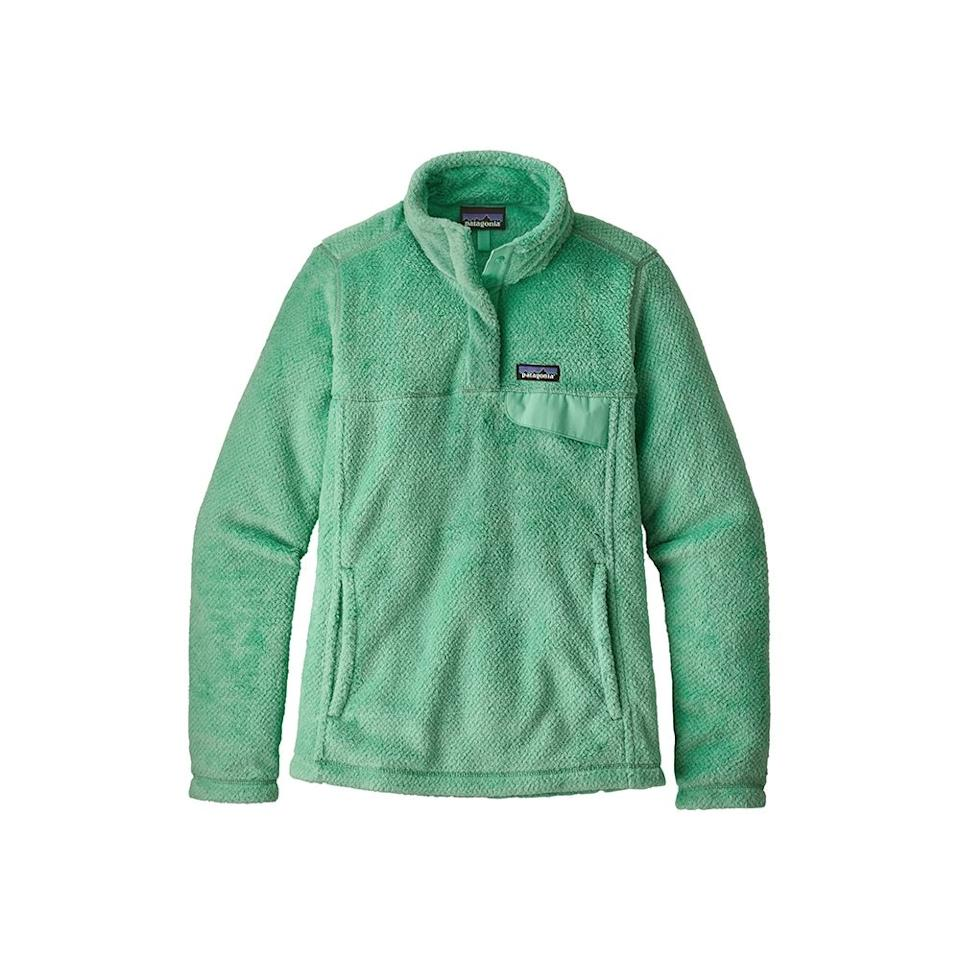 """$119, REI. <a href=""""https://www.rei.com/rei-garage/product/158806/patagonia-re-tool-snap-t-pullover-womens"""">Get it now!</a>"""